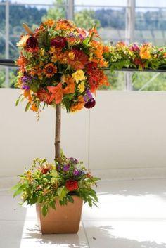 Flower topiary arrangement