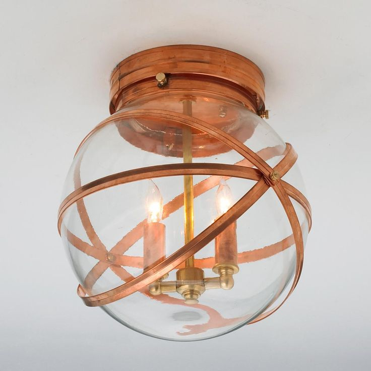 Indoor Ceiling Lights #15: Steam Punk Indoor Outdoor Ceiling Light $359, Bronze Or Copper