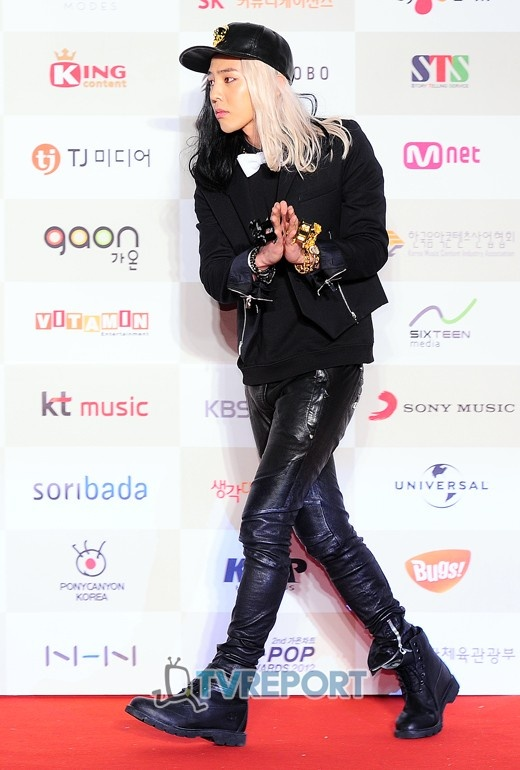 Red carpet photos from the '2nd Gaon Chart K-Pop Awards' - GD