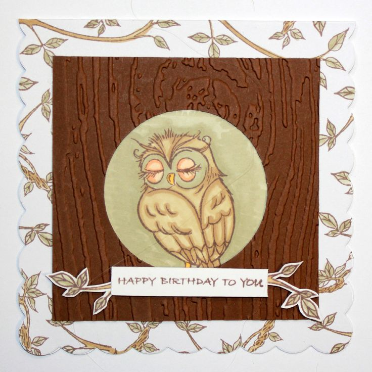 This Gorgeous card was made by Heidi Green using Hobby Arts stamp set Owls.