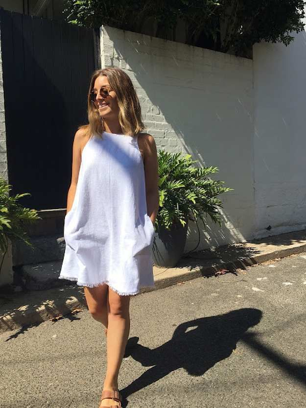 Sewing A DIY Linen Dress | 15 Quick and Easy Sewing Patterns You Can Sew This Weekend!