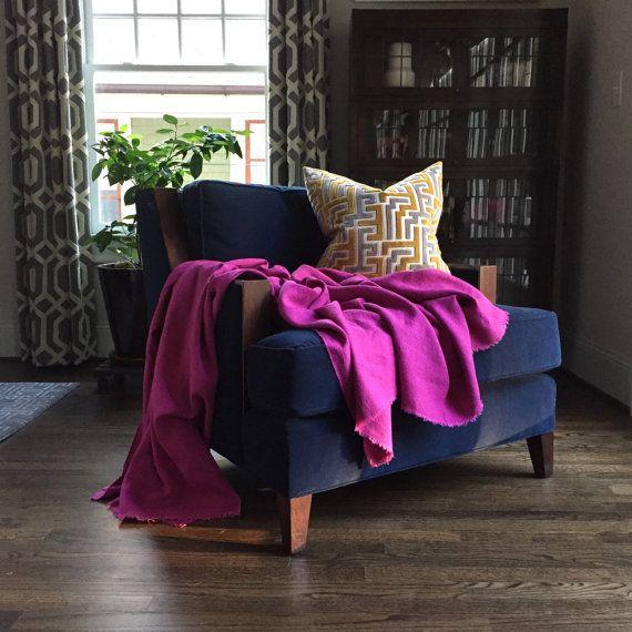 magenta linen classic throw global blanket style art deco throw sofa or chair 6u0027 x 45u0027 formal market linen atlanta ga