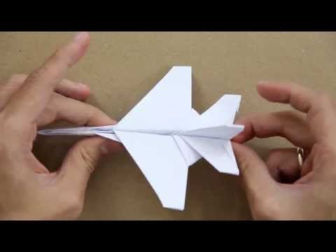 How to make an F16 Jet Fighter Paper Plane - YouTube