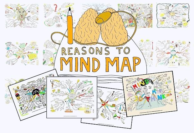 http://www.mindmapinspiration.com/tag/100-reasons-to-mind-map/  Mindmapping creativity