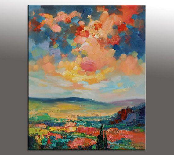 Oltre 25 fantastiche idee su dipinti ad olio con paesaggio for Quadri facili da dipingere