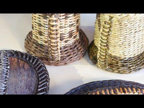 «Паракордовое» плетение ручки из газетных трубочек | oblacco