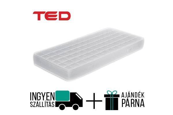 Ted Wooly vákuum matrac, 20 cm magas kemény konfort érzetű, téli nyári oldalas, Novaflex maggal elláttot matrac. 150 kg-ig terhelhető. A gyártó 8 év garanciát bíztósít a matracra.  http://matracom.hu/termekek/hideghab-matracok/ted-wooly-vakuum-matrac/