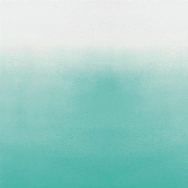 Designers Guild Castellani Saraille Wallpaper - Aqua ($305) ❤ liked on Polyvore featuring home, home decor, wallpaper, backgrounds, blue, filler, blue home decor, pattern wallpaper, aqua wallpaper and designers guild wallpaper
