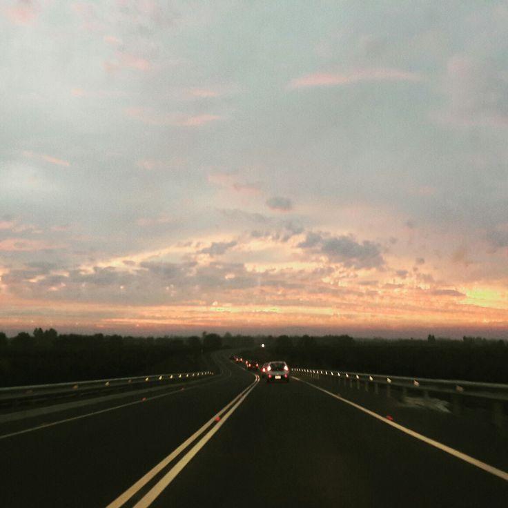 Camino a casa.