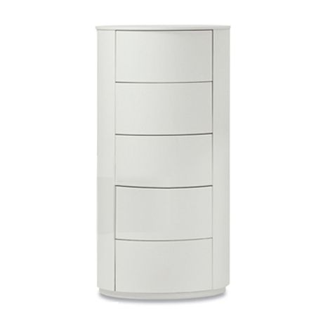 Contemporary round Italian tallboy Ø 51 - H 109.7 cm by Dall'Agese at My Italian Living Ltd
