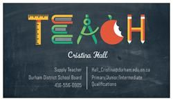 I love my new business cards - Perfect for supply teachers getting their names out!