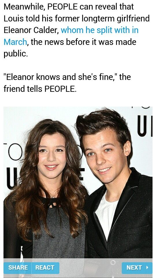 I ♡/adore El, so it makes me happy to hear this, #but still wish it was her and not the other girl #but that's none of my business and it's not my place to judge or worry. Good luck to them. Honestly:). #louis #dad #baby #ahh AND HAPPY BDAY ELEANOR!!♡♡♡
