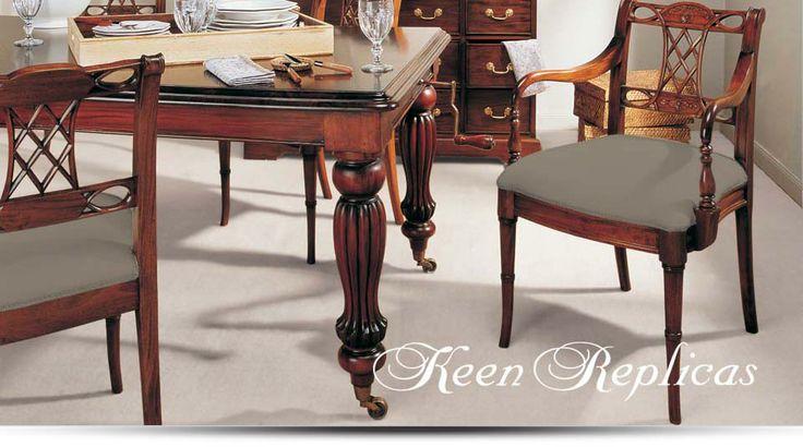 Keen replicas muebles artesanales en caoba maciza for Replicas de muebles