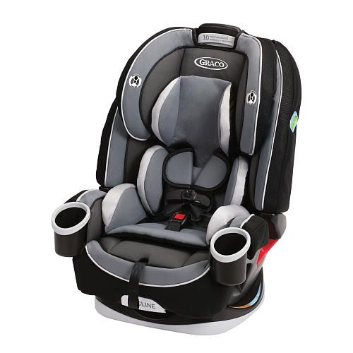 Graco's 4Ever All-in-One Car Seat, in Cameron, gives you 10 years with one car seat. It's comfortable for your child and convenient for you as it transitions from rear-facing in a harness for your infant (4 - 40 lbs.) to a forward-facing, five-point harness seat (20 - 65 lbs.) to a high-back, belt-positioning booster (30 - 100 lbs.) to a backless, belt-positioning booster (40 - 120 lbs.).