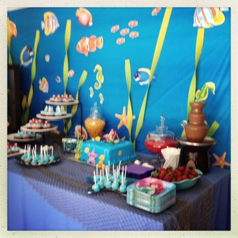 Ariel birthday party party decorations pinterest for Ariel birthday party decoration ideas