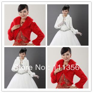 Black Red White Or Ivory Faux Fur Wedding Wrap Cape Shawl For Bride Bridal Shrug-inScarves from Women's Clothing & Accessories on Aliexpress.com | Alibaba Group