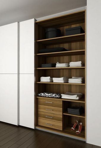 Contemporary sliding door wardrobe in glass KIRUR SERIES Kallmar
