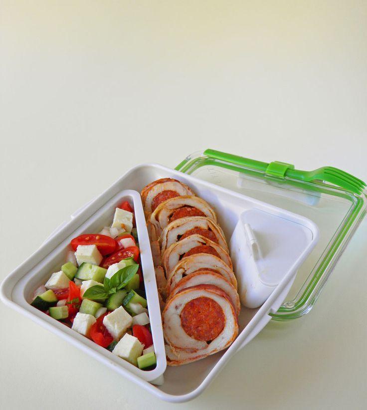 Bento box - bento doboz 13 kolbásszal töltött csirkemell