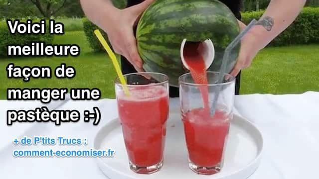 """Voici une nouvelle façon de manger une pastèque que vous allez adorer. Et quand je dis """"manger"""", le terme exact serait plutôt boire une pastèque. Regardez :-)  Découvrez l'astuce ici : http://www.comment-economiser.fr/voici-la-meilleure-facon-de-manger-une-pasteque..html"""