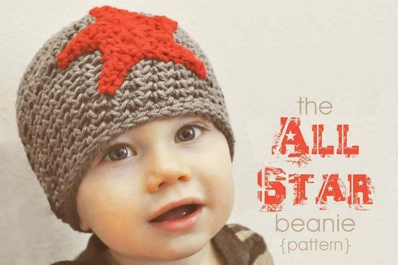 Google Image Result for http://ny-image1.etsy.com/il_570xN.202080441.jpgCrochet Leaves, Cute Boys, Crochet Hats Pattern, Beanie Pattern, Stars Beanie, Beanie Hats, Crochet Pattern, All Stars, Beanie Crochet