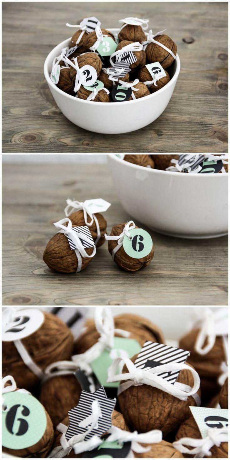 Make walnut advent calendar yourself
