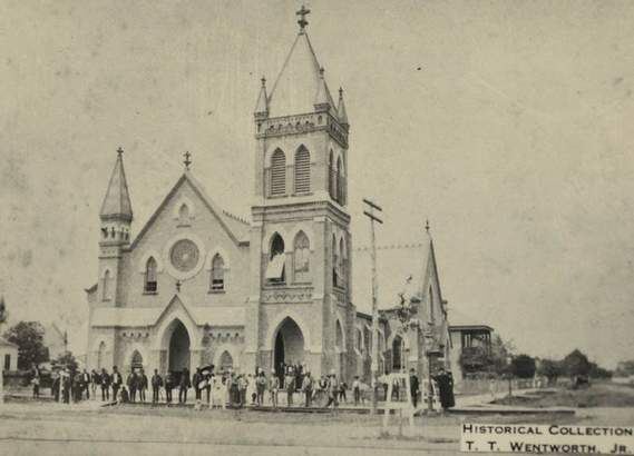 St Michael Church Congregation Pictured Outside The