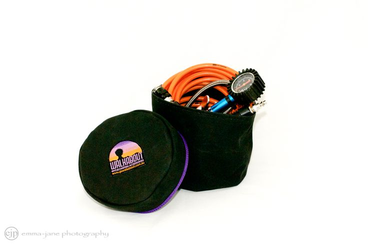 Compressor hose bag made in Australia from heavy duty canvas.