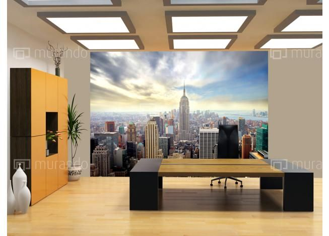 Tapeta - panorama New York city #newyork #manhattan #sunriseovernewyork