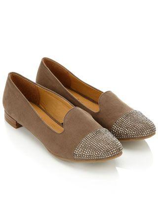 Hot Fix Toe Cap Slipper Shoes | Taupe | Accessorize