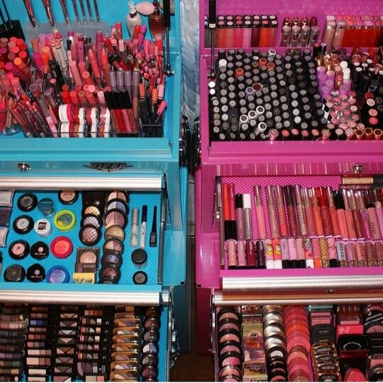 Pink Tool Box Organizing Make Up Pinterest The O