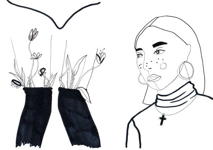 #illustration #MLC #legs #flowers #girl letiziamlc.tumblr.com