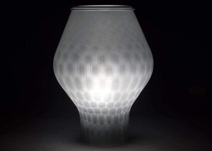 Benjamin Hubert blows glass to form Beacon lamps
