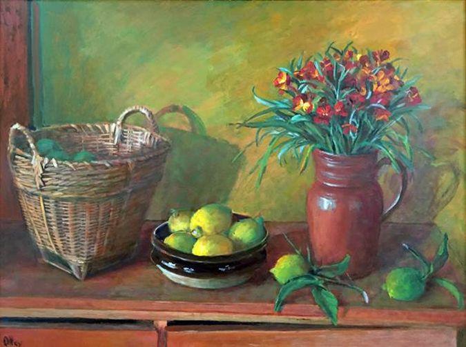 Margaret Olley Still Life With Lemons  c 1984  Copyright © Margaret Olley