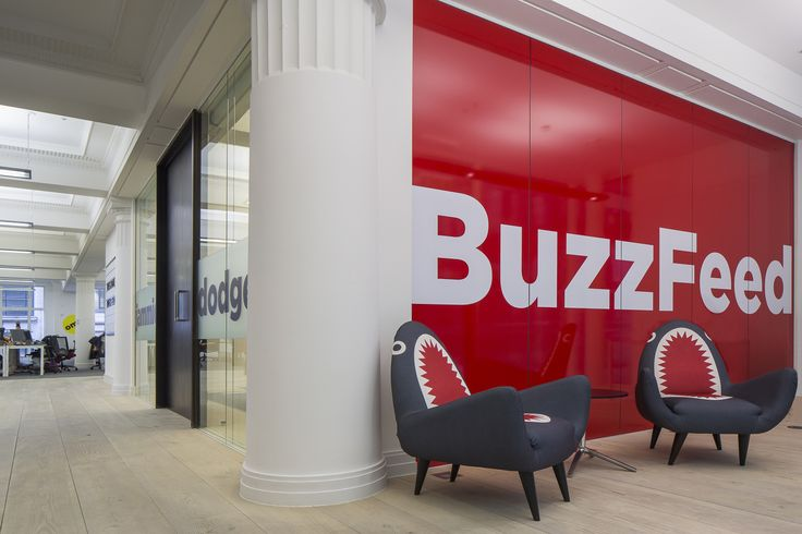 Shark chair for the Buzzfeed offices, designed by bluu