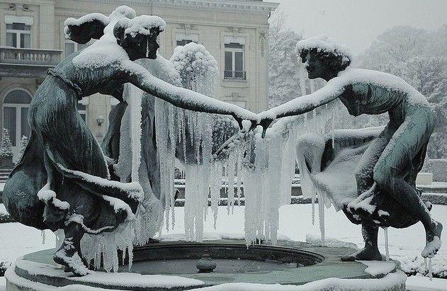 frozen fountains