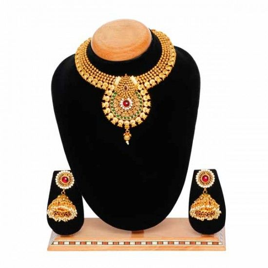 Aaishwarya Coloured Choker Party Necklace Set.....Special Price:  Rs 1,749  (After 65% OFF)..... #necklaceset #fashionjewellery #partynecklace #chokernecklace #discountoffers