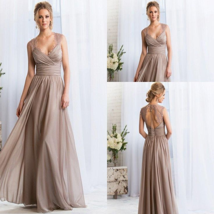 Free shipping, $76.94/Piece:buy wholesale 2015 V-neck Long Silver Bridesmaid Dresses Lace Keyhole Back Prom Dresses Long Maid Of Honor Dresses Formal Evening Gowns from DHgate.com,get worldwide delivery and buyer protection service.