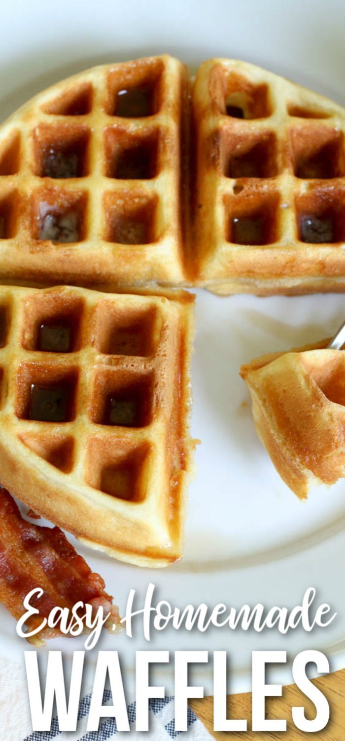 Easy Homemade Waffle Recipe If You Re Looking For The Best Homemade Waffles This Is It Homemade Waffles Waffles Recipe Homemade Homemade Waffle Recipe Easy