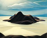 Pic Island, c1924, Lawren S. Harris, oil on canvas, 123.3 x 153.9 cm., Lake Superior, Ontario, Canada.