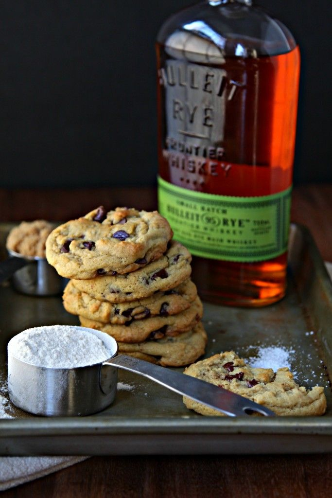 Whiskey Brown Butter Chocolate Chip Cookies