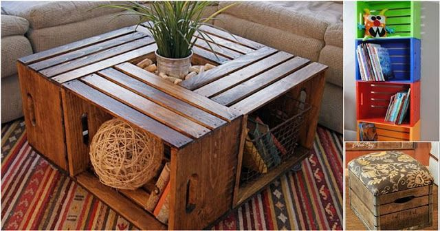 16 Creative And Sustainable Ideas For Decorating With Wooden Crates ~ Idees And Solutions