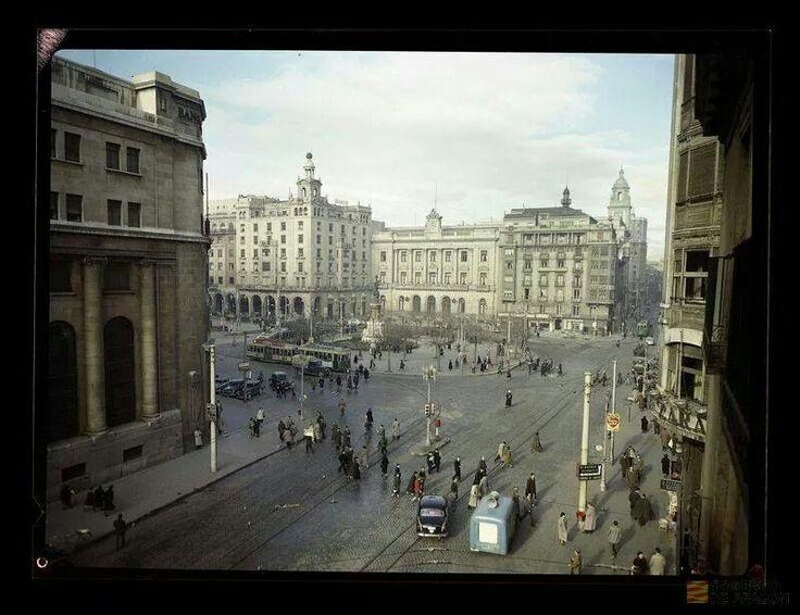 Plaza españa, 1952.