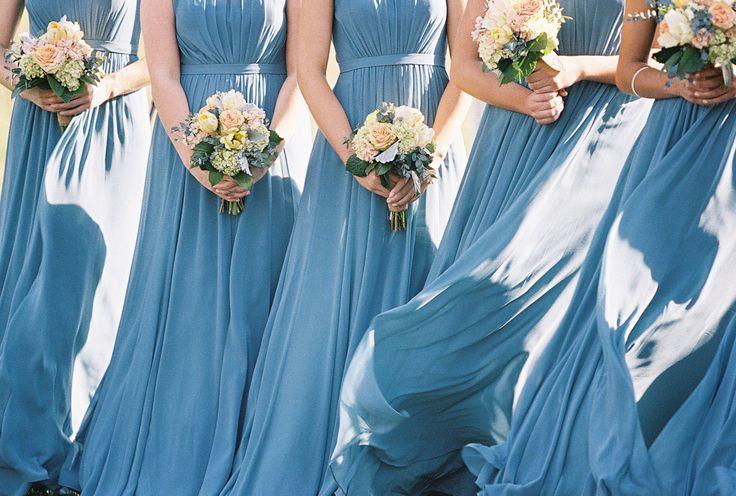Photography: Adam Barnes - www.adambarnes.com  Read More: http://www.stylemepretty.com/2015/01/29/french-blue-peach-southern-farm-wedding/