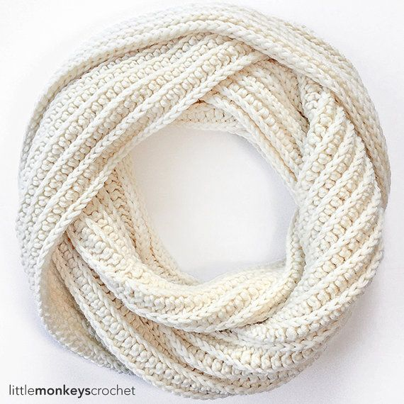 Pattern: Super Plush Faux-Knit Infinity Scarf Crochet Pattern PDF ...