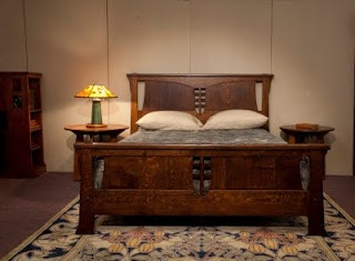 Love this craftsman bed by Cold River Furniture