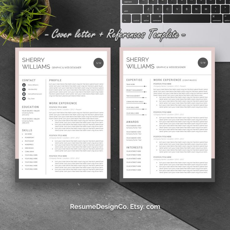 graphic design resume template%0A Etsy com  you can get high quality and professional resume templates