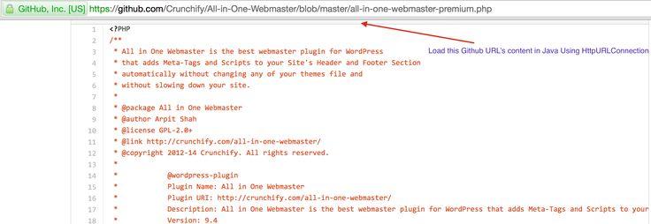 Load Github URL Content using HttpURLConnection photo Crunchify - webmaster job description