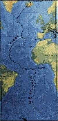 A map of the Mid-Atlantic Ridge
