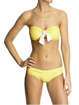 Yellow Pocka Dot Bikini