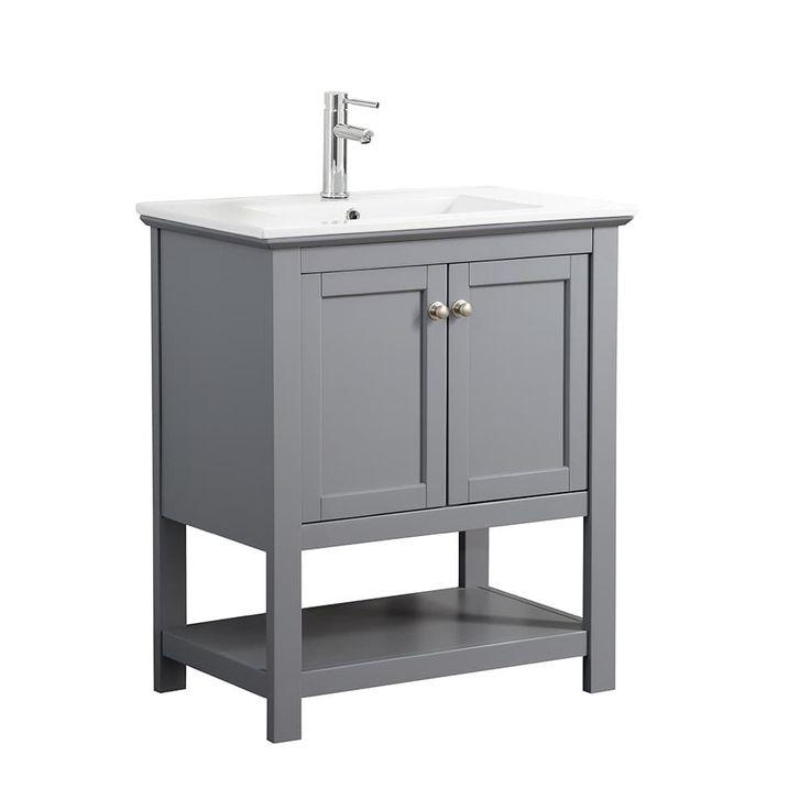 "Fresca Manchester 30"" Gray Traditional Bathroom Vanity (Manchester 30"" Gray Bathroom Vanity), Grey, Size Single Vanities #traditionalbathroom"